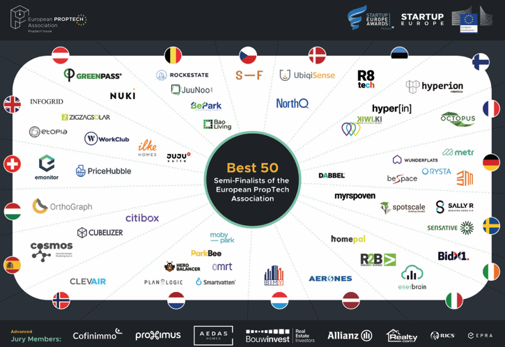 Myrspoven, one of the 50 semi-finalists of the PropTech Startup and Scale-up Europe Awards 2021